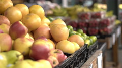 Oranges for sale at farmers market 4k Stock Footage