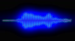 Digital audio spectrum sound wave effect Stock Footage
