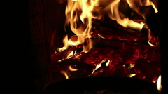 Classic Italian wood-burning stove. Cooking Stock Footage