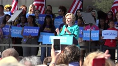 Hillary Clinton Speaks About Getting Out The Vote At Rally In Tampa Stock Footage