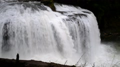 Upper Lewis River Falls, Gifford Pinchot National Forest, Washington Stock Footage