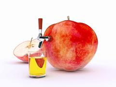 Apple juice Stock Illustration