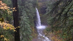 Miller Creek Falls, Mount Saint Helens National Volcanic Monument, Washington Stock Footage