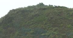 Strong Wind And Rain Lash Mountainous Coastline Stock Footage