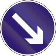 Road sign used in Hungary - Keep right Stock Illustration