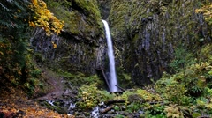 Dry Creek Falls, Columbia River Gorge National Scenic Area, Oregon Stock Footage