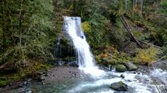 Steep Creek Falls, Skamania County, Oregon Stock Footage