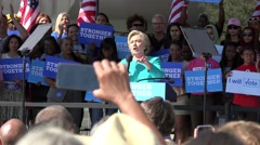 Hillary Clinton Speaks About The Economy At Rally In Tampa Florida Stock Footage