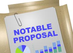 Notable Proposal concept Stock Illustration