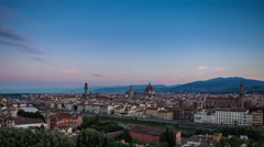 Florence View Night to Day Timelapse Stock Footage