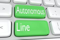 Autonomous Line concept Stock Illustration