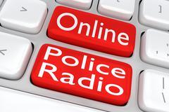 Online Police Radio concept Stock Illustration