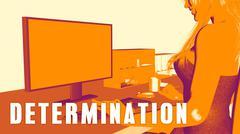 Determination Concept Course Stock Illustration