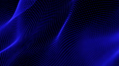 Animated Blue Wave Pattern Stock Footage