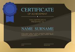 Blank Certified Border Template Vector Illustration Stock Illustration