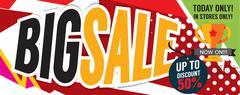 Big Sale Deal 8000x3198 pixel Banner Vector Illustration Stock Illustration