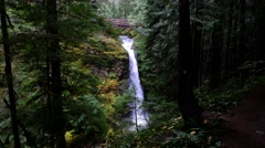 Copper Creek Falls, Gifford Pinchot National Forest, Washington Stock Footage