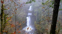 Curly Creek Falls, Mount Saint Helens National Volcanic Monument, Washington Stock Footage