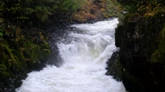 BZ Falls, White Salmon National Scenic River, Washington Stock Footage