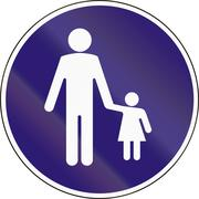 Road sign used in Hungary - Beginning of footpath Stock Illustration