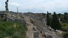 Naples Italy Pompeii ancient Roman city walls Stock Footage