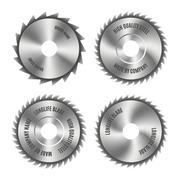 Steel blade for the saw, vector illustration. Stock Illustration