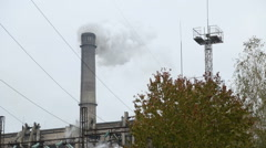 Air Pollution Clouds of Smoke Coming From the Chimney of the Plant Arkistovideo