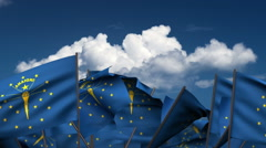 Waving Indiana State Flags Stock Footage