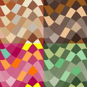 Abstract colour seamless patterns Stock Illustration