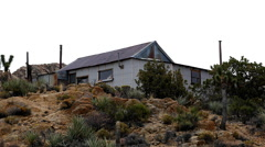 Abandon House - Riley's Camp - Mojave Desert California Stock Footage