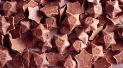 Chocolate stars, candy Stock Footage