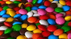Colorful, rainbow, rotating sweets, candy, sugared, lentilky Stock Footage