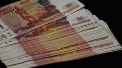 Handling 5000 rub money  Stock Footage