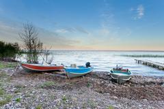 Peaceful landscape of Lesser Slave Lake AB Canada Stock Photos