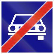 Hungarian regulatory road sign - End of main highway Stock Illustration