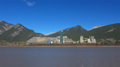 Lac Des Arcs limestone mine and cement plant Stock Footage
