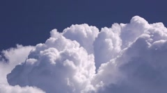 Cloudscape. Blue sky and white cloud. Cumulus cloud. Clouds flying fast. Stock Footage