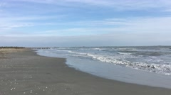 Sulina beach during autumn Stock Footage