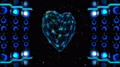 Whirling Neon Heart Stock Footage