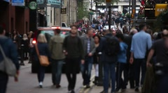 Crowds of Christmas shoppers in Central London Stock Footage