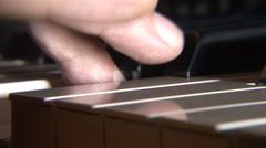 Piano keyboard closeup Stock Footage