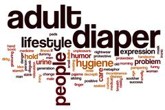 Adult diaper word cloud Stock Illustration
