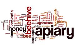 Apiary word cloud Stock Illustration