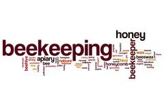 Beekeeping word cloud Stock Illustration