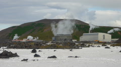 Svartsengi geothermal power plant, Iceland Stock Footage