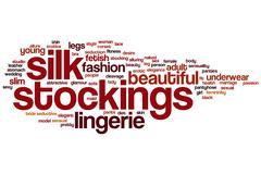 Silk stockings word cloud Stock Illustration