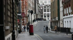 Typical Streets of London Stock Footage