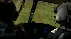 Inside a helicopter taking off, 4k Stock Footage