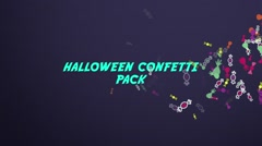 Halloween Confetti Pack Stock After Effects