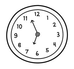 Wall Clock Doodle Stock Illustration